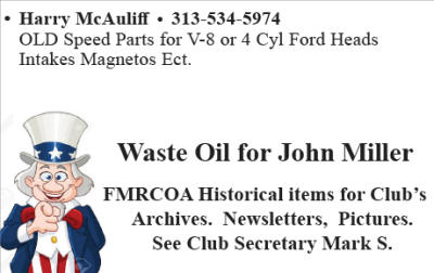 WANTED: BRING JOHN YOUR USED OIL!