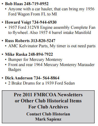 WANTED FMRCOA ADS MAY 2019
